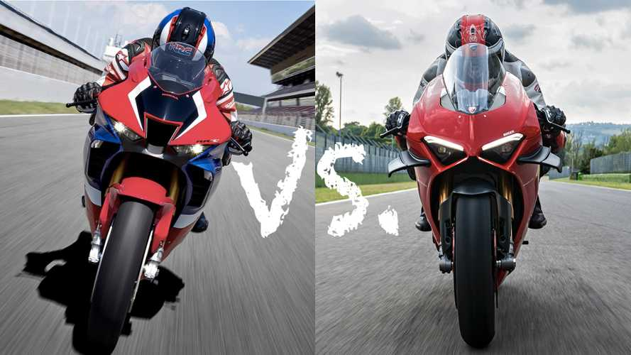 Spec Showdown: Honda Fireblade SP Vs Ducati Panigale V4