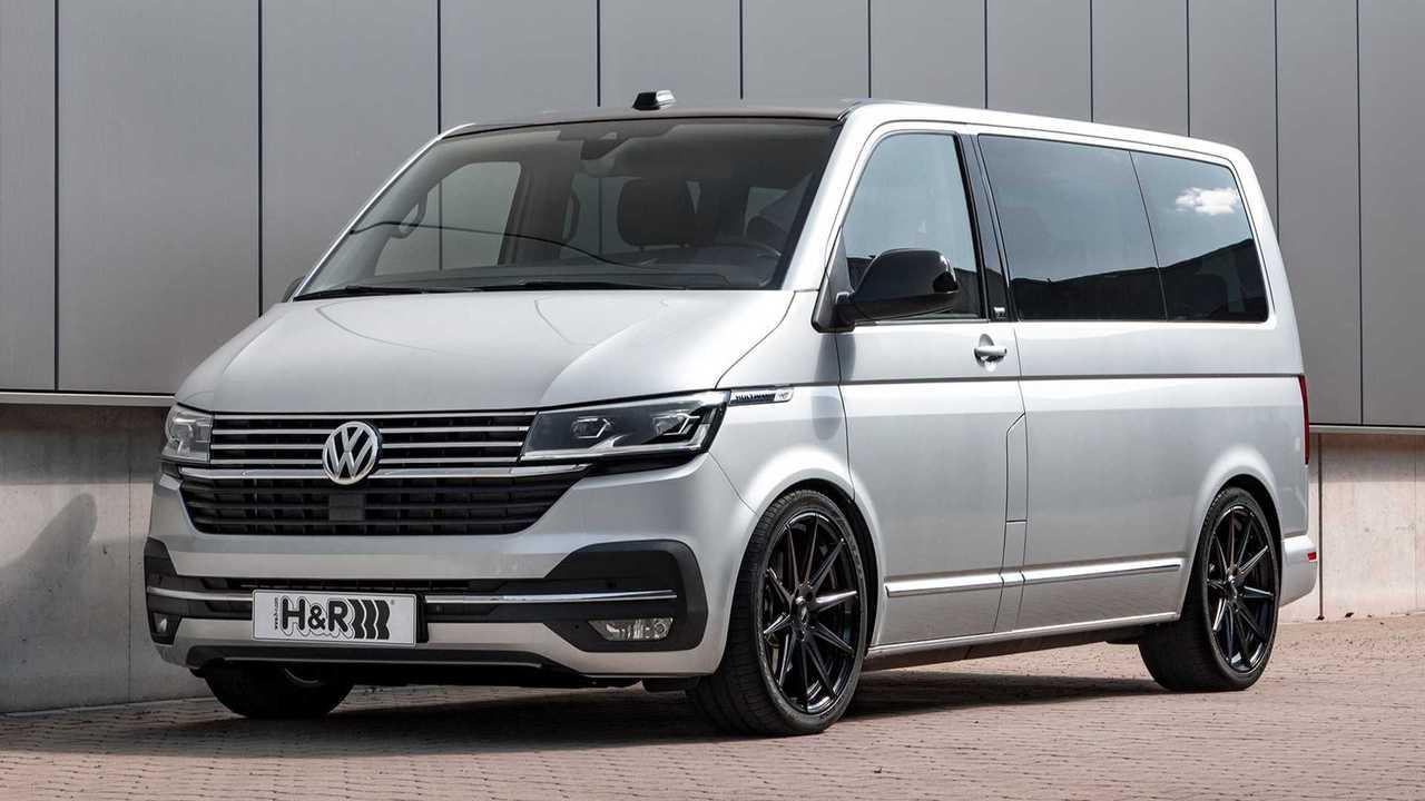 H&R VW Multivan T6.1: Ansicht von schräg vorne