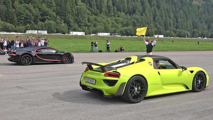 Ritka pillanat: Bugatti Chiron a Porsche 918 Spyder ellen - ki nyer?