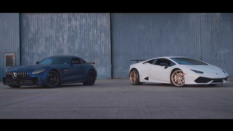 Mercedes-AMG GT R battles Lamborghini Huracan in rolling drag races