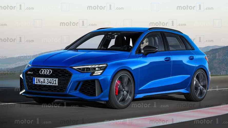 2021 Audi RS3 Sportback rendering by Motor1.com