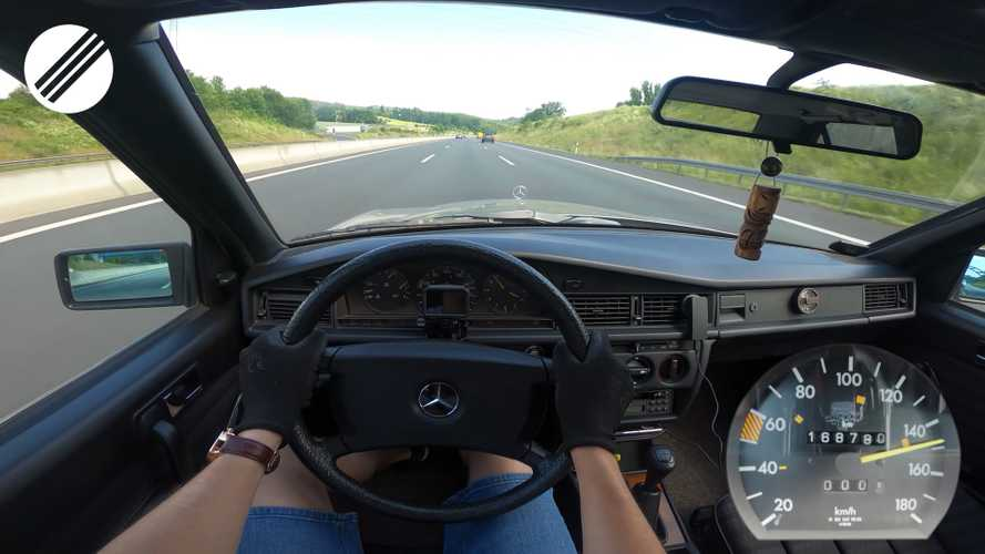 72-Horsepower Mercedes 190D From 1988 Does Top Speed Run On Autobahn