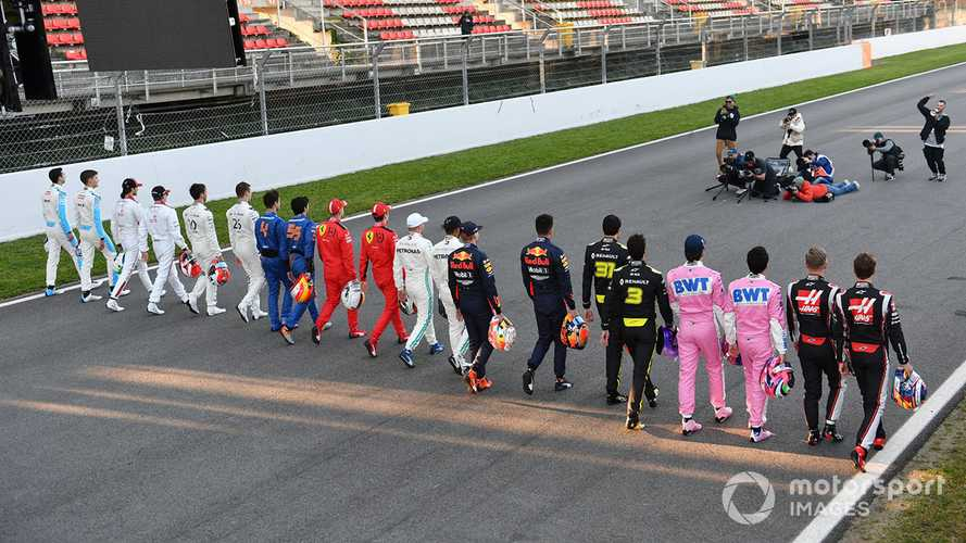 F1 drivers discussing taking a knee in Austria