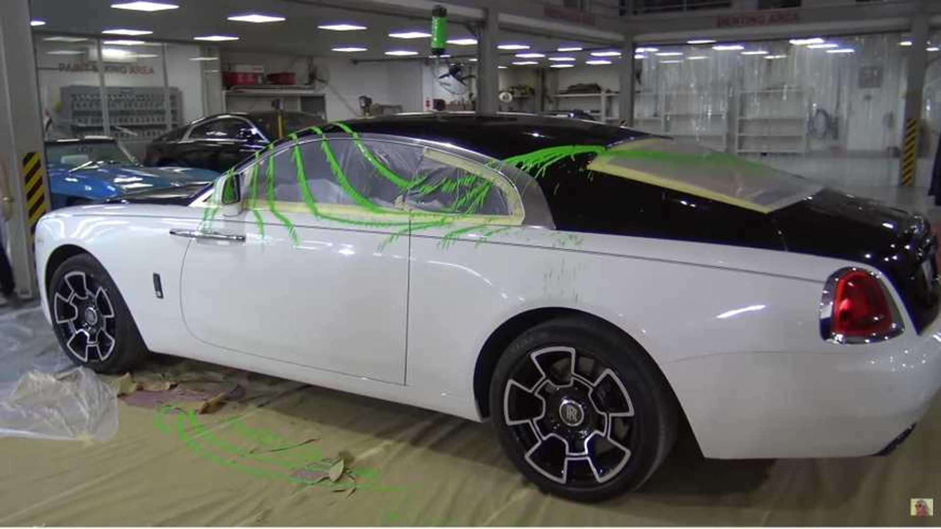 Watch Supercar Blondie Paint Her Rolls Royce Neon Green With Pendulum