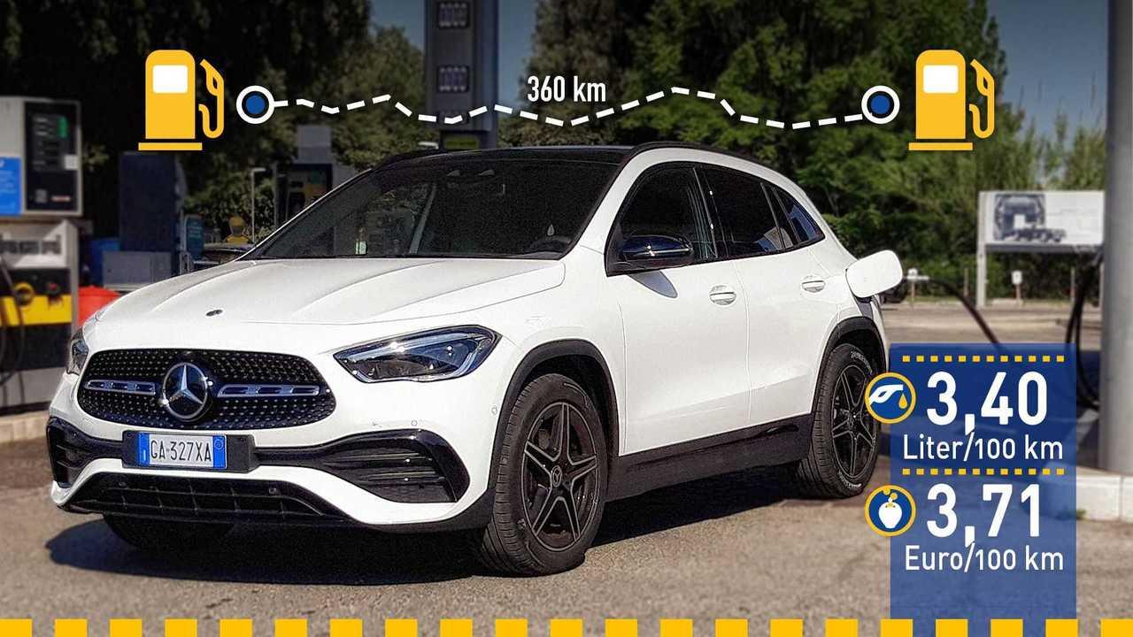 Mercedes GLA 200 d (2020) im Verbrauchstest