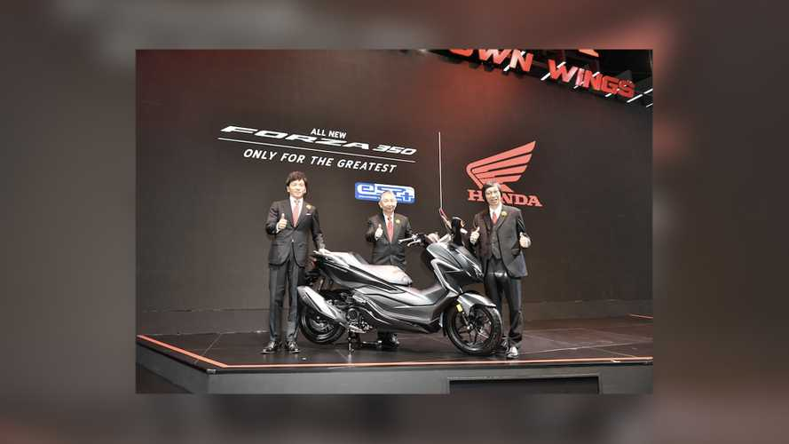 New 2021 Honda Forza 350 Unveiled At The Bangkok Motor Show