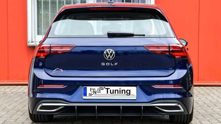 2020 VW Golf Mk8 Looks Snazzy In Custom Body Kit, Funky Wheels