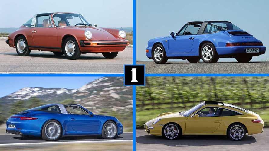 Las 8 generaciones del Porsche 911 Targa, de un vistazo