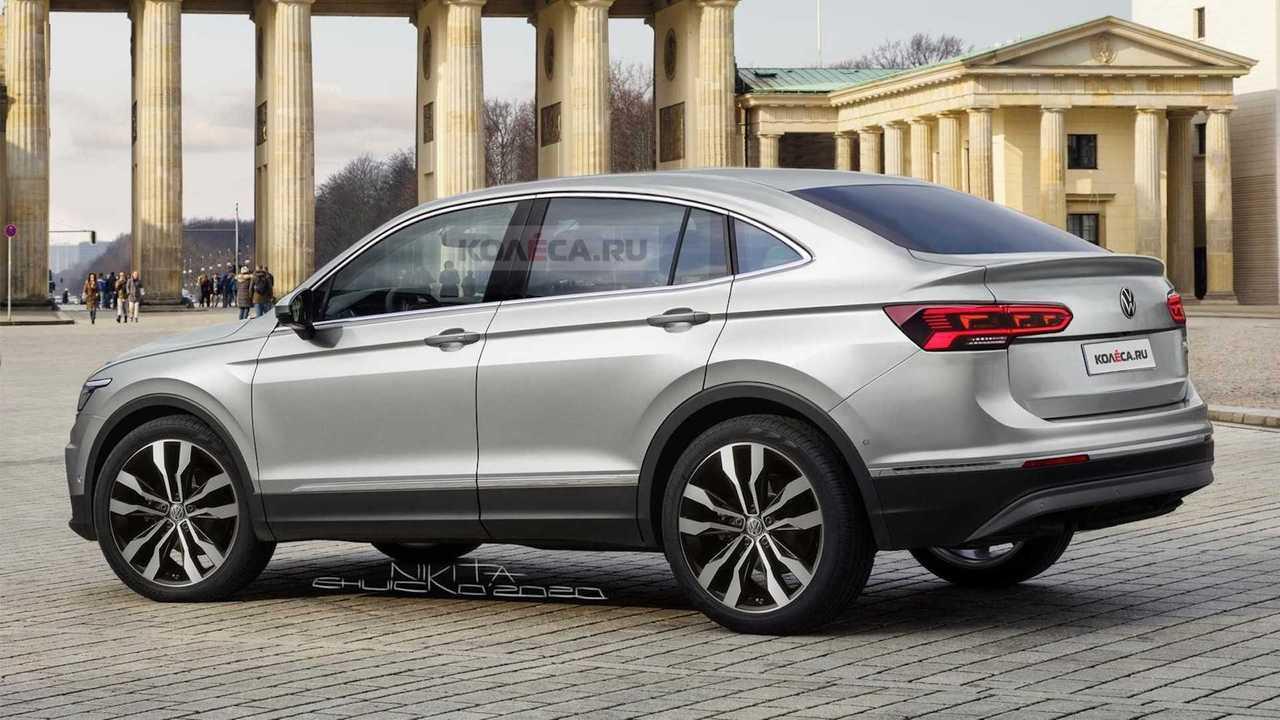 VW Tiguan X Coupe Rendering by Kolesa