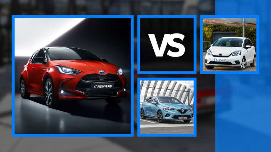 Toyota Yaris vs Renault Clio vs Honda Jazz, petites et hybrides !