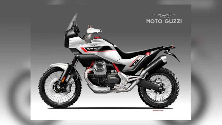 This Moto Guzzi V90 TTR Render Is The Rugged Adventurer We Dream Of