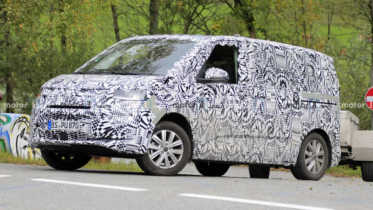 Volkswagen Transporter T7, fotos espía