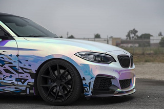 BMW M235i Gets Wild With a 'Rainbow' Wrap