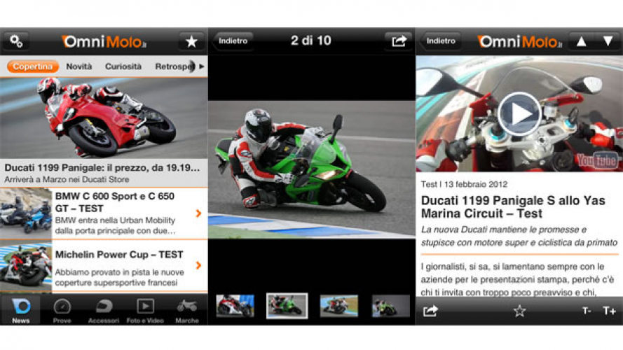 Omnimoto.it, ecco la App