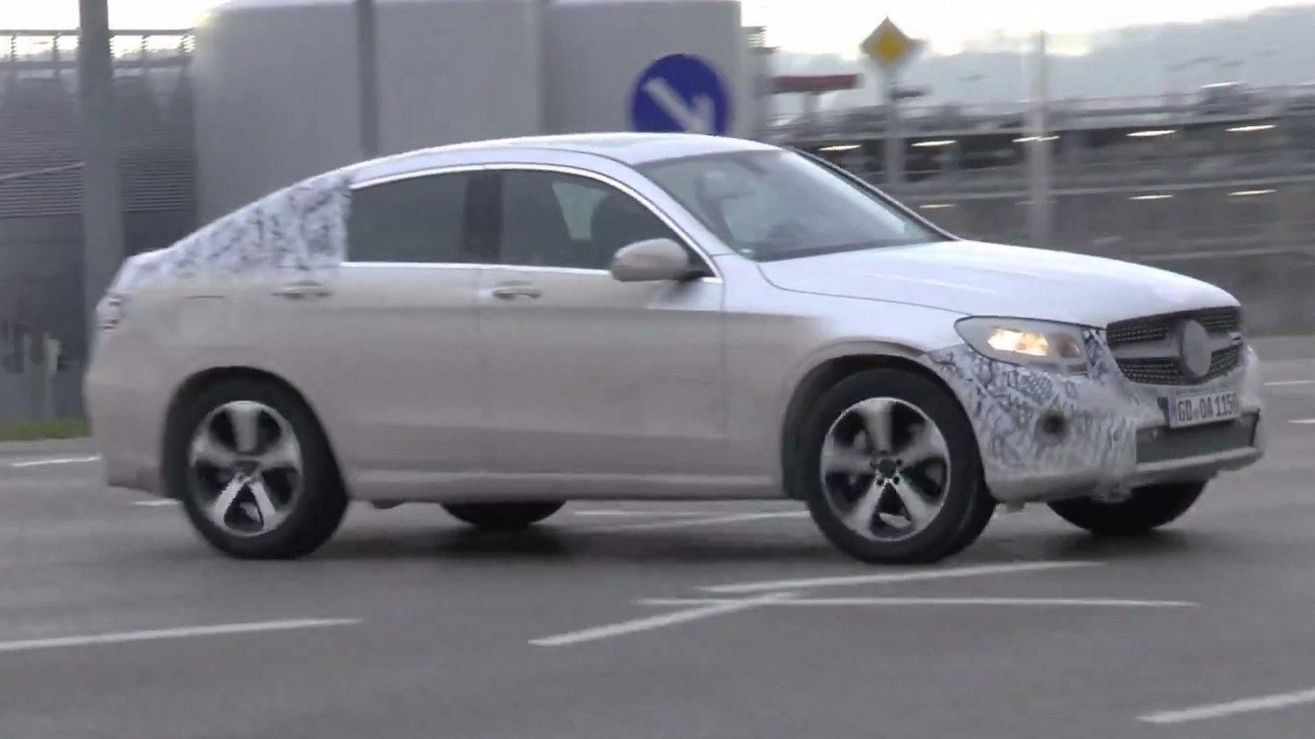 Mercedes Benz Glc Coupe Spied In Motion Testing Plug Hybrid Setup Video