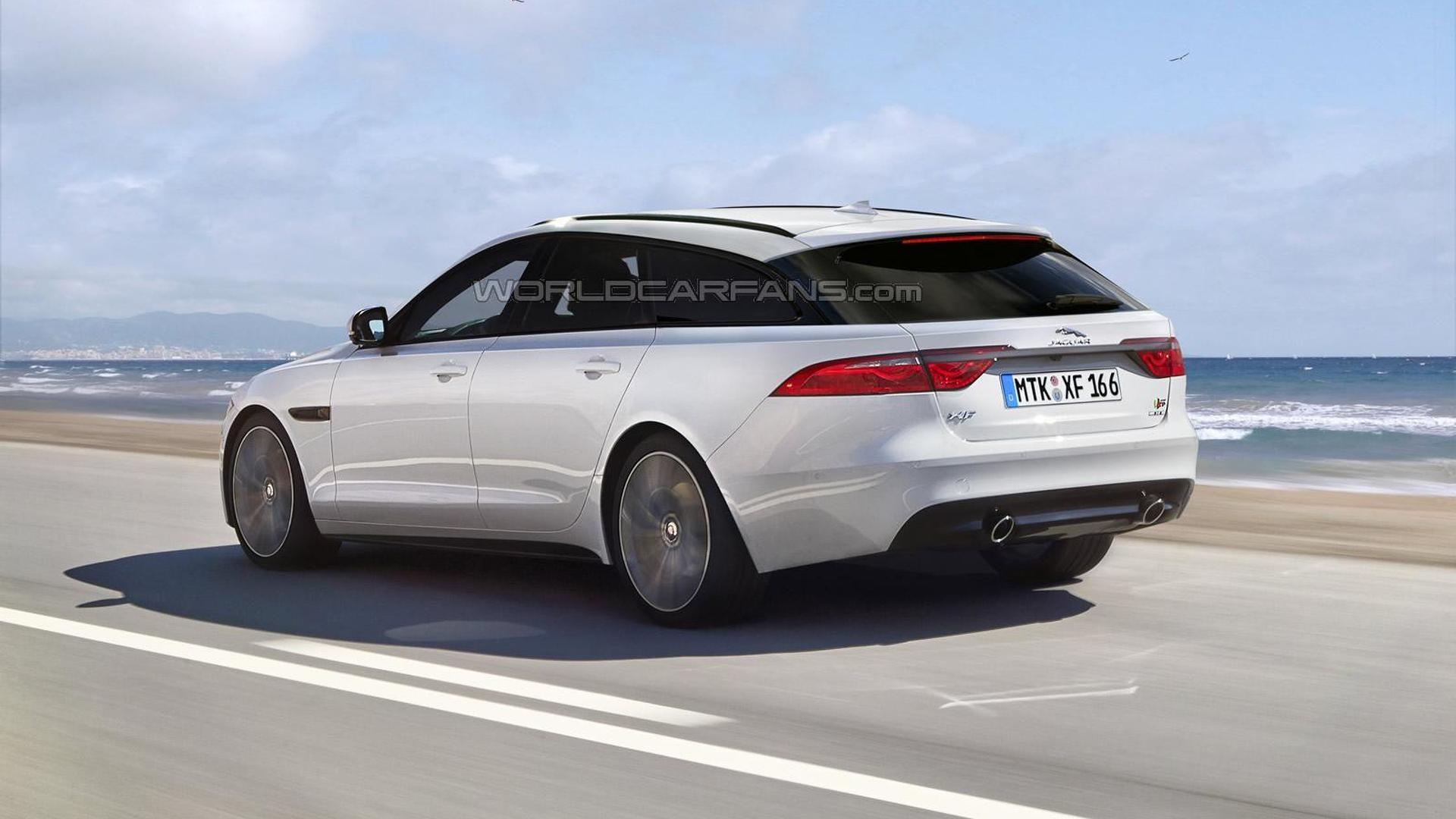 2016 Jaguar Xf Sportbrake Render Shows Plausible Look Motor1 Com
