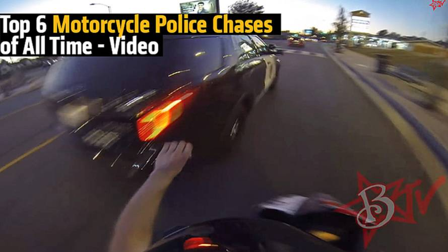Top 6 Motorcycle Police Chases of All Time - Video