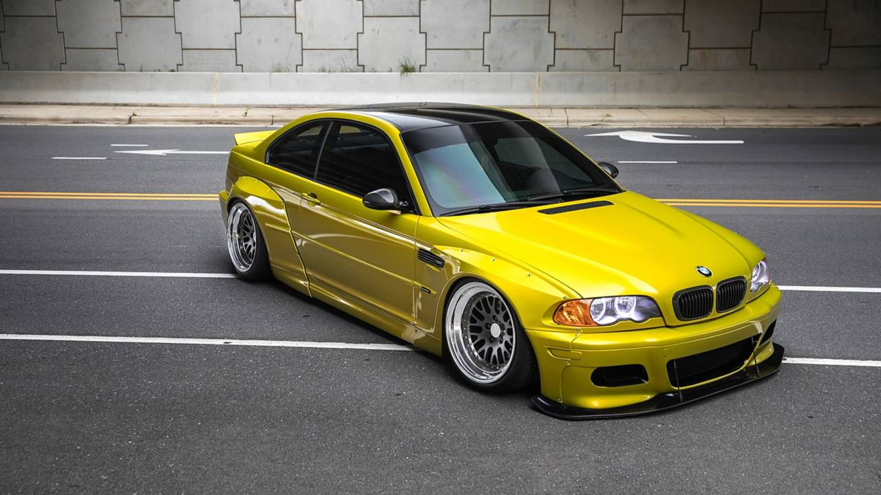 this bmw m3 e46 widebody is definitely not for purists. Black Bedroom Furniture Sets. Home Design Ideas