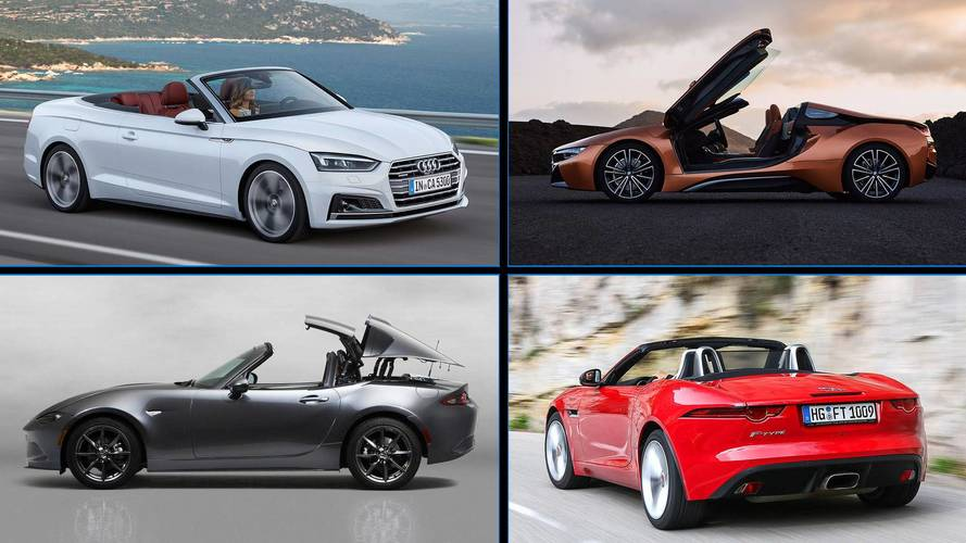 12 cars with the fastest convertible tops