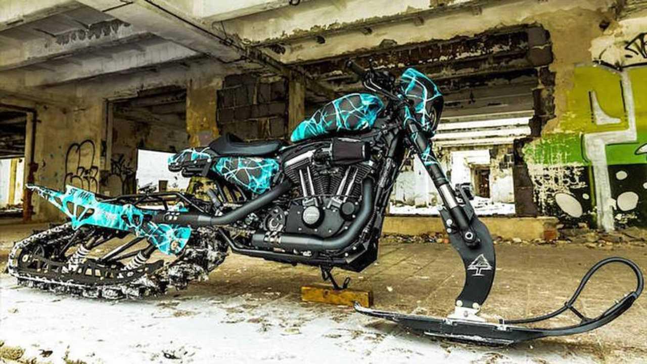 The H-D XL 1200 CX Snow Drag Bike