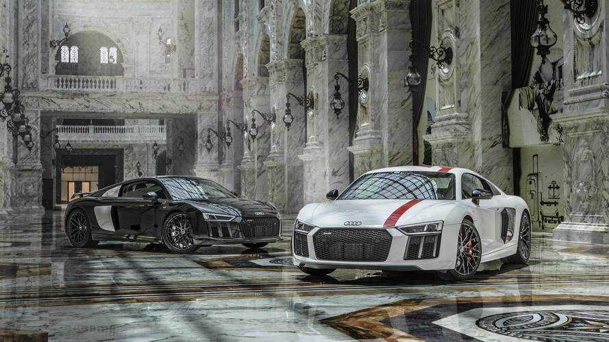 Audi R8 V10 Plus ve R8 V10 RWS Al Hazm alışveriş merkezinde