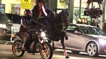 new keanu reeves stunt pits horse against e bikes