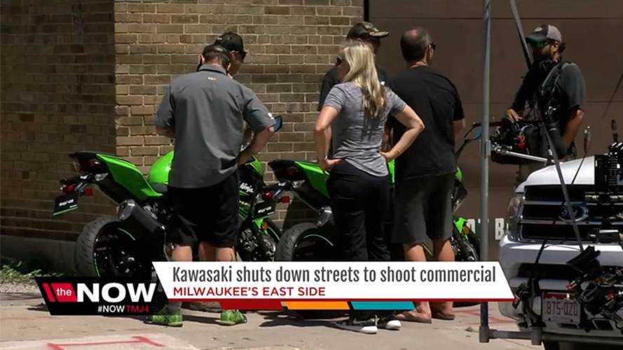 New Ninja 400 Spied on the Street in Milwaukee