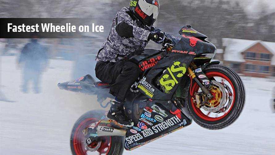 Fastest Wheelie On Ice