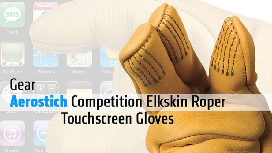 Aerostich Competition Elkskin Roper Touchscreen Gloves Review