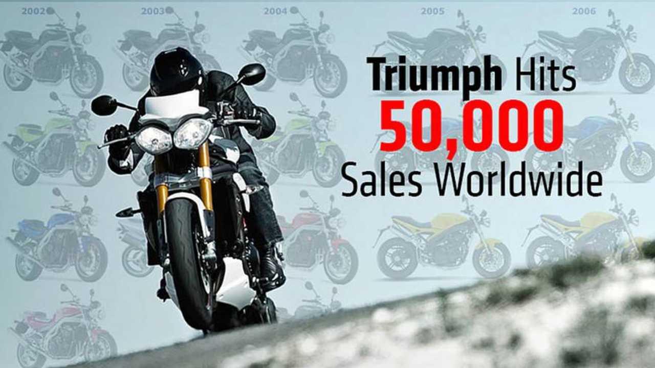 Triumph Motorcycles Hit 50,000 Sales Worldwide