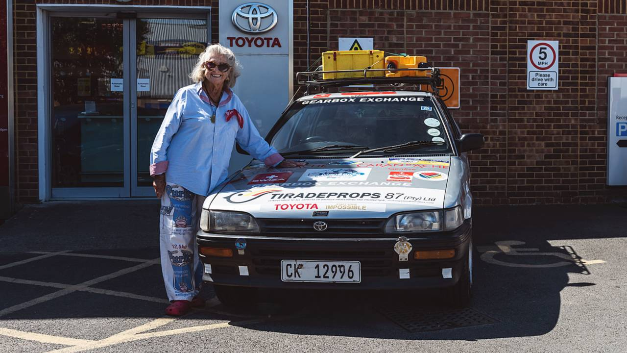Julia Albu Toyota Corolla Cape Town to London