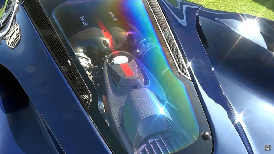 Nick Mason LaFerrari Blu Pozzi in London
