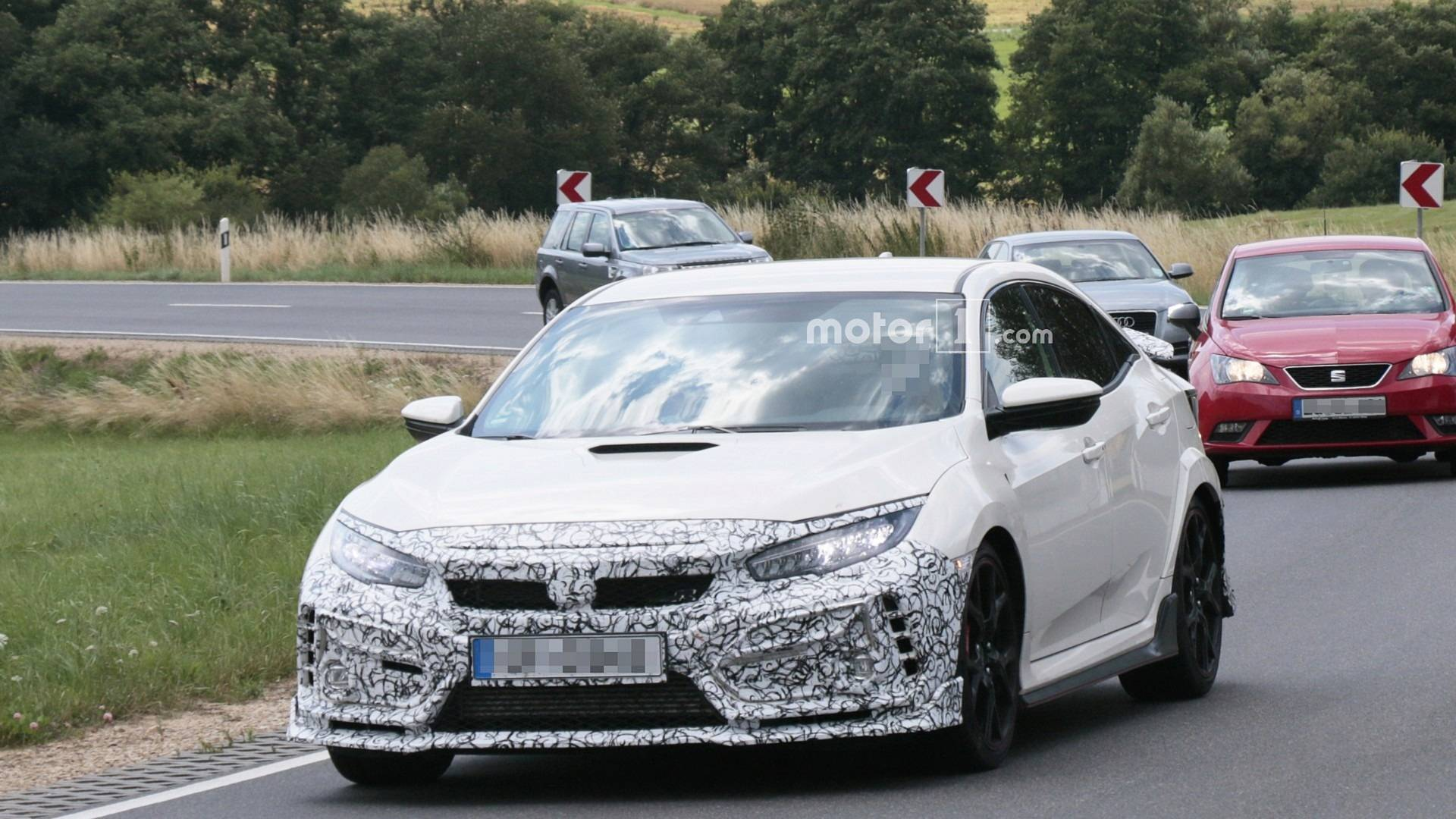 Honda Civic Type R Facelift Already Spied On The Nurburgring