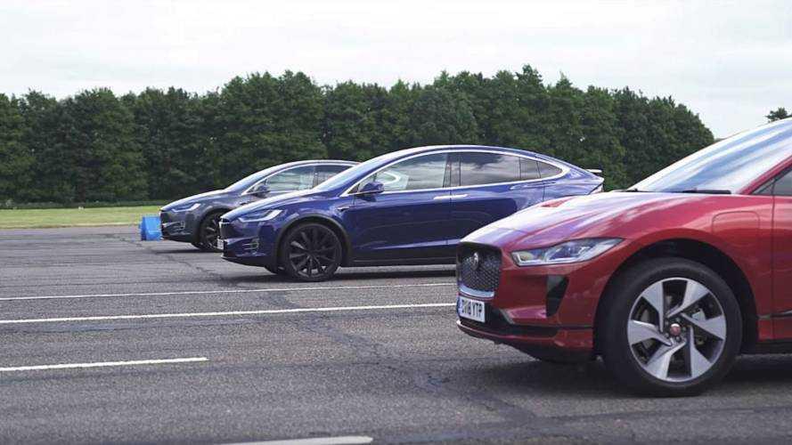 Jaguar I-Pace ve Tesla Model X'ler drag yarışında