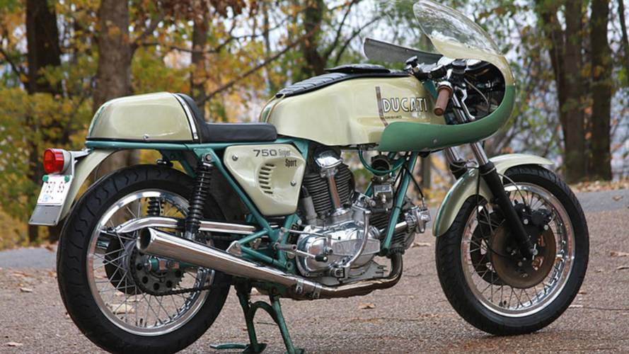 Unrestored 1974 Ducati 750 SS at Mecum