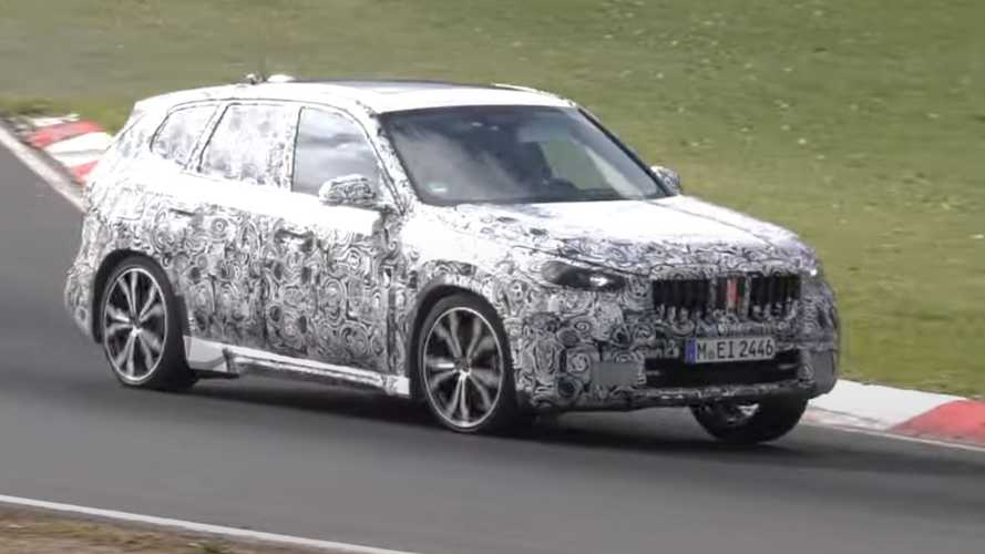 2022 BMW X1 Spy Video Shows Small SUV Fine-Tuning At The 'Ring
