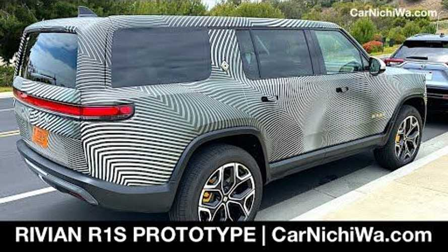 Rivian R1S Electric SUV Spotted In The Wild, Rancho Palos Verdes