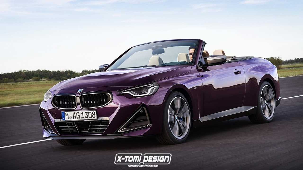 BMW 2 Series rendered withouth the roof