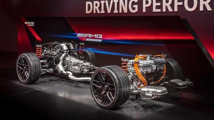 La tecnica delle AMG E Performance: ibridi oltre 820 CV e turbo elettrico