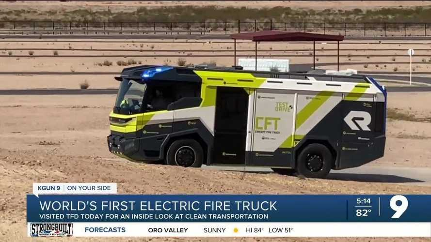 See Electric Fire Truck Demonstrated In Tucson, Arizona