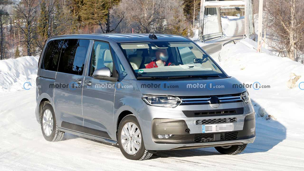 2023 VW T7 spied almost undisguised