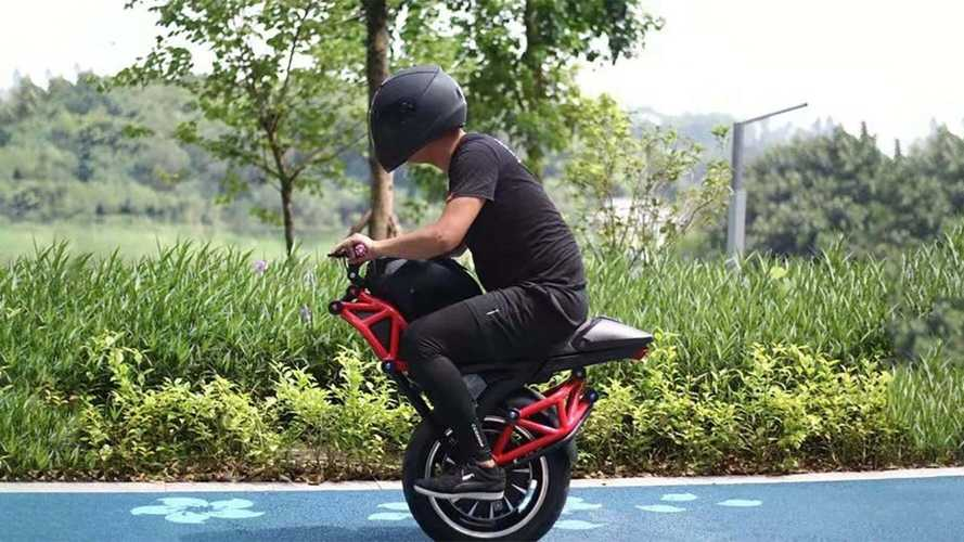 This Weird Electric Motorcycle Only Has One Wheel