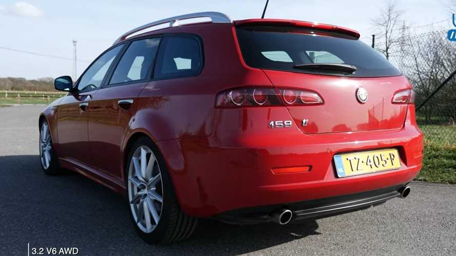 Alfa Romeo 159 Ti estate puts V6 to work in top speed run