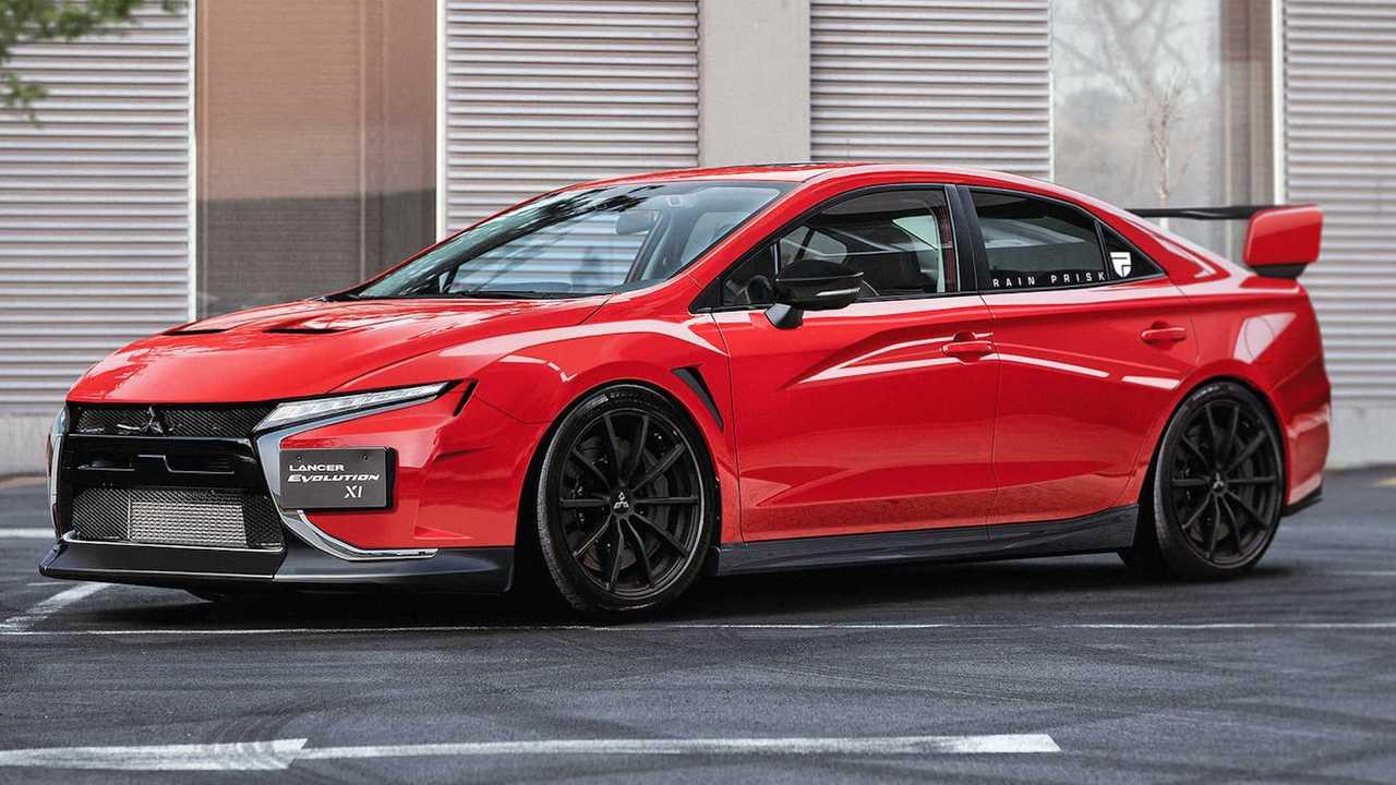 Unofficial Mitsubishi Lancer Evolution rendering.