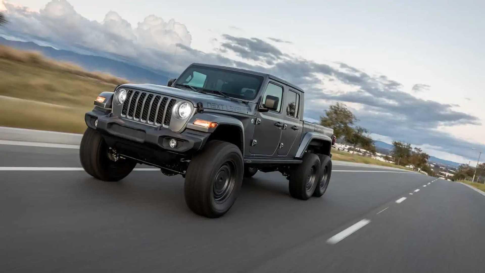 Jeep Gladiator 6x6, ecco la proposta di Next Level