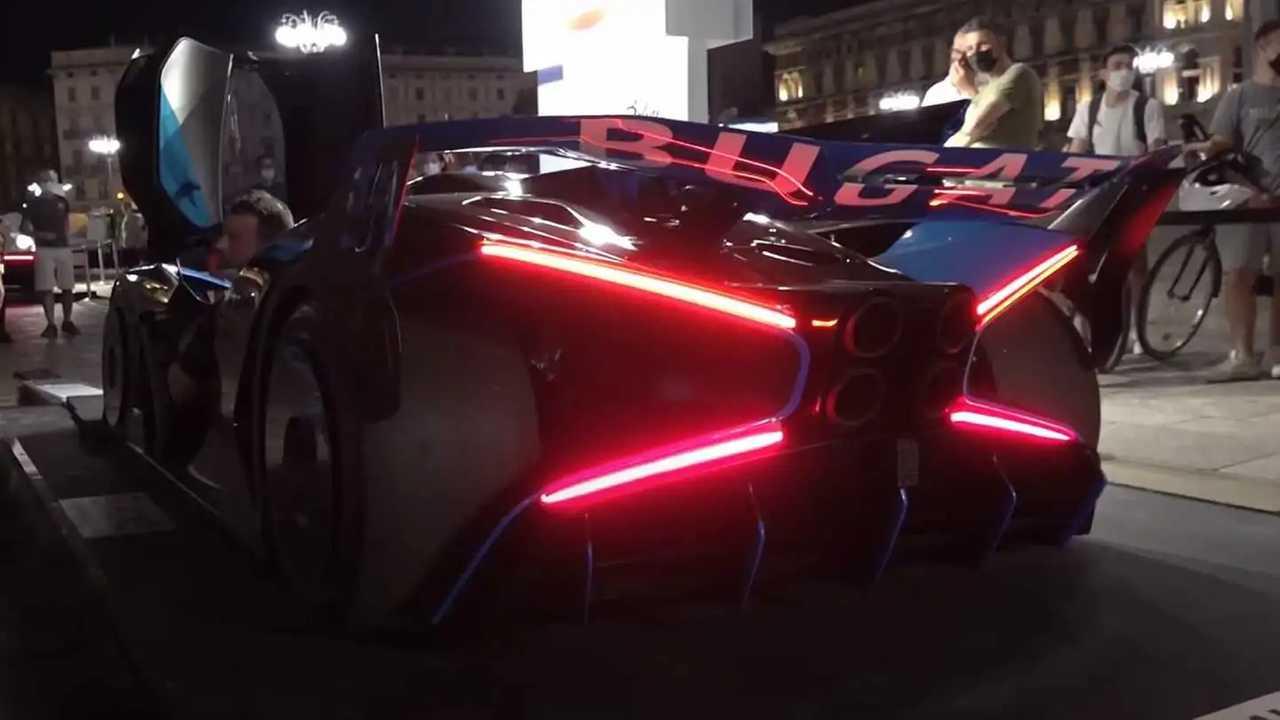 Bugatti Bolide Milánóban