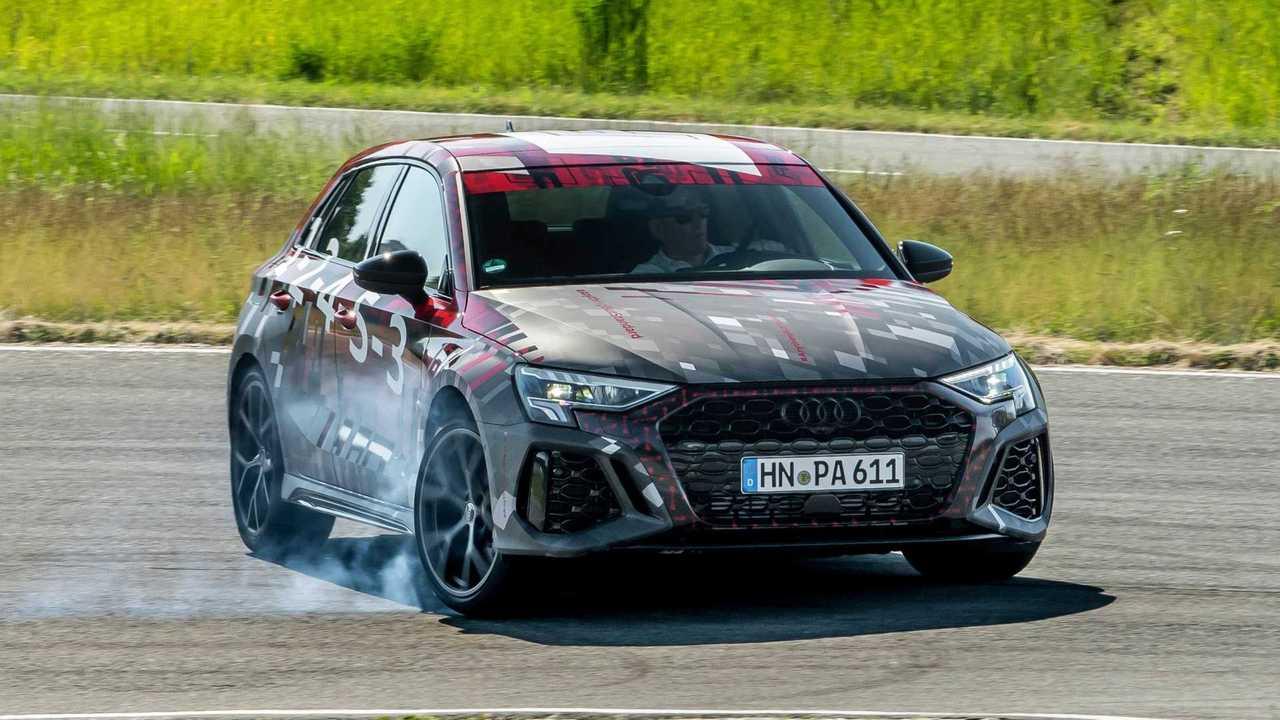 Der kommende Audi RS 3 darf dank seines neuen Allradsystems jetzt auch wild driften