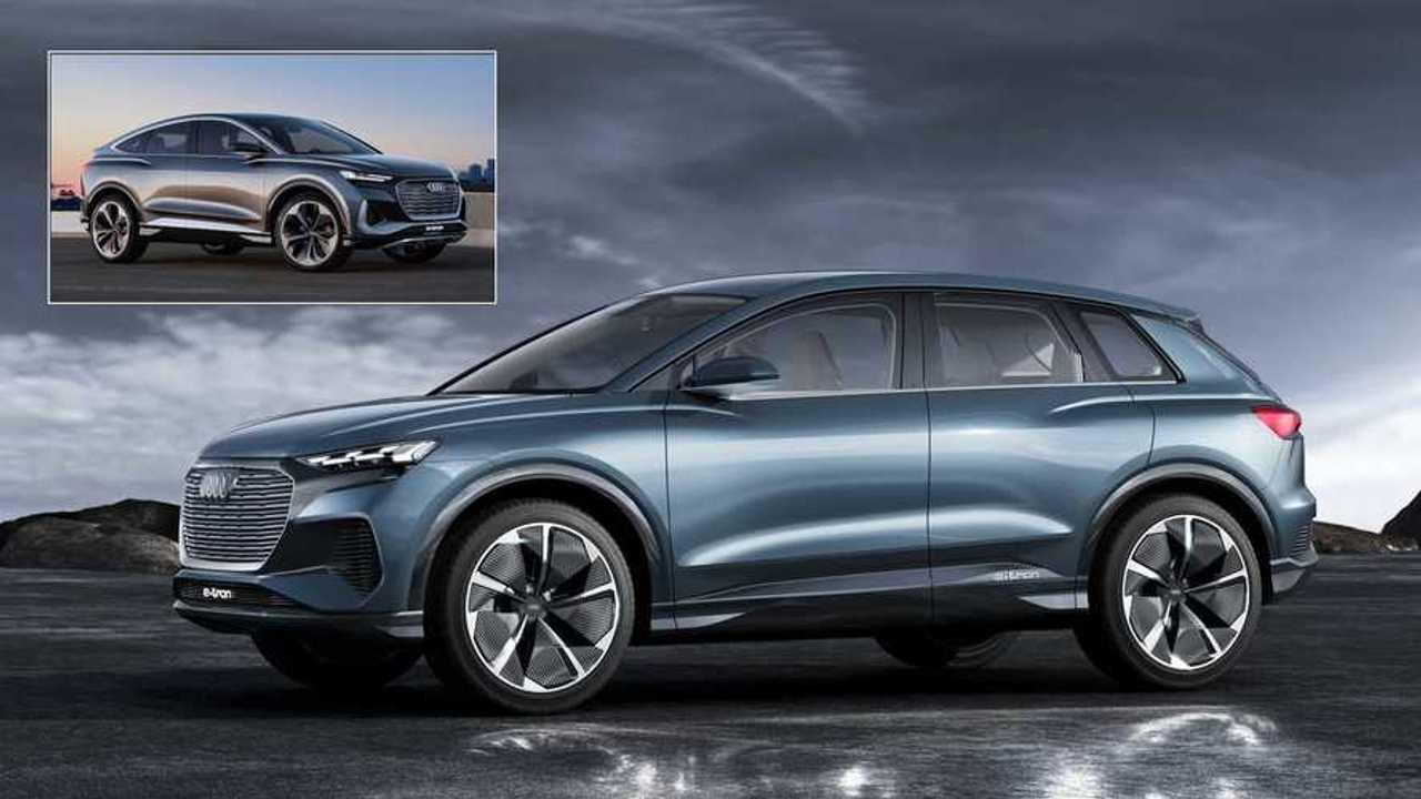 Der Audi Q4 e-tron kommt 2021 auf den Markt, und zwar mit Allrad- und Heckantrieb