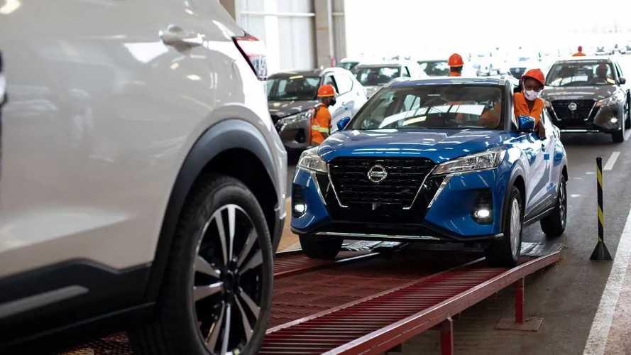 Nissan Kicks 2022 sendo enviado para lojas