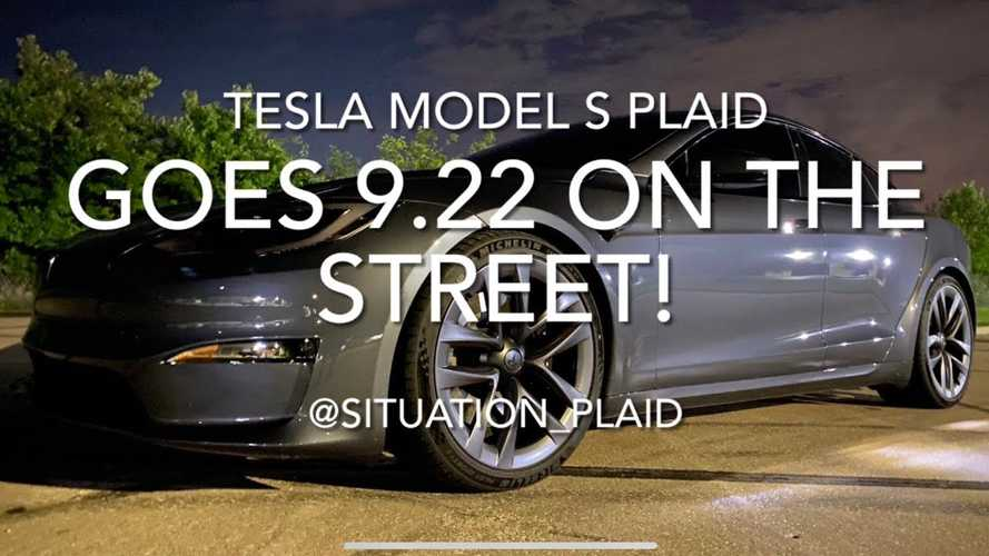 Watch Tesla Model S Plaid set new 1/4 mile record at 9.22 seconds